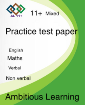 11 Plus Mixed pack papers -Digital copy PDF (e -mailed or posted)