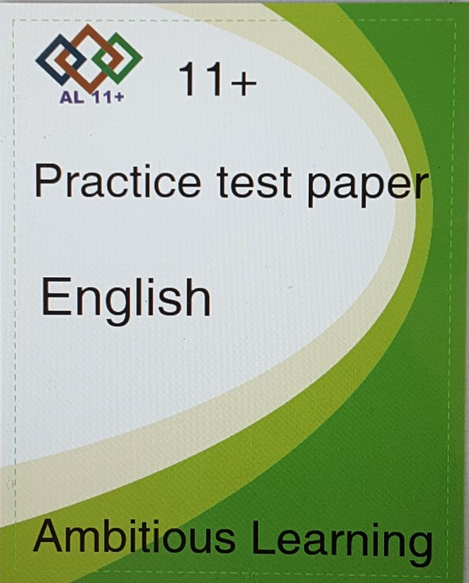 11 PLus English paper -Digital copy PDF (e-mailed or posted )