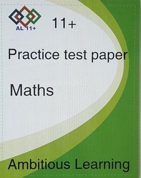 11 Plus maths paper 1 -Digital copy PDF(e mailed or posted )